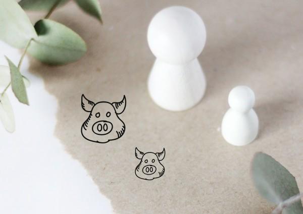 Schwein Motivstempel