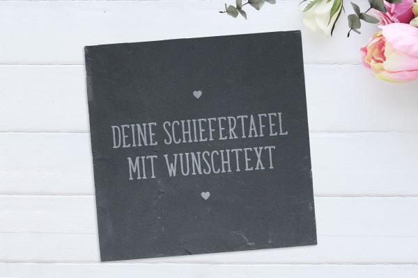 Schiefertafel mit Gravur Wunschtext personalisiert