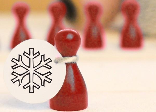 Mikrostempel Schneeflocke