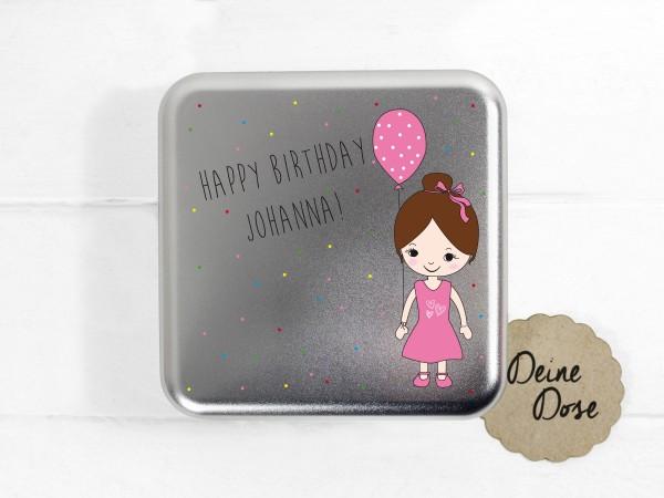 personalisierte Geschenkdose zum Geburtstag für Mädchen