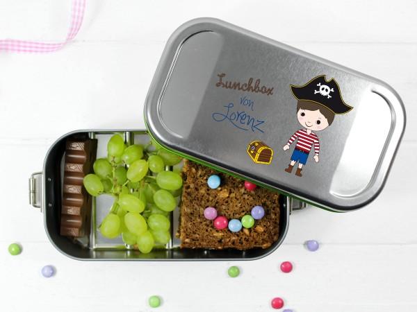 individualisierte Lunchbox mit Namen für Jungen