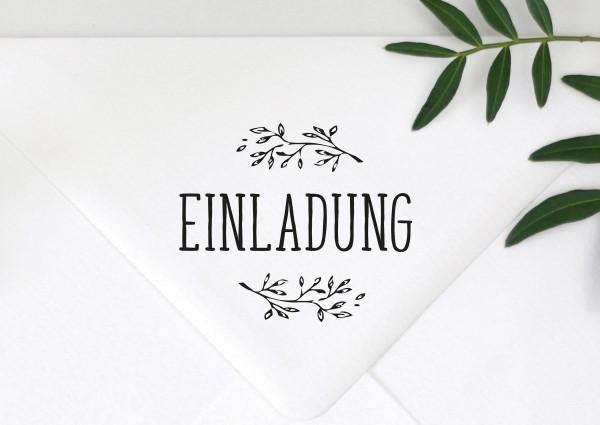 Stempel Textstempel Spruch Einladung
