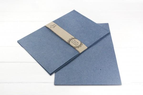 10 Blatt Handgeschöpftes Papier Denim