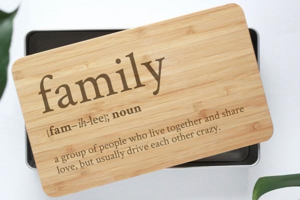Definition Gebäckdose Family mit Bambusbrettchen