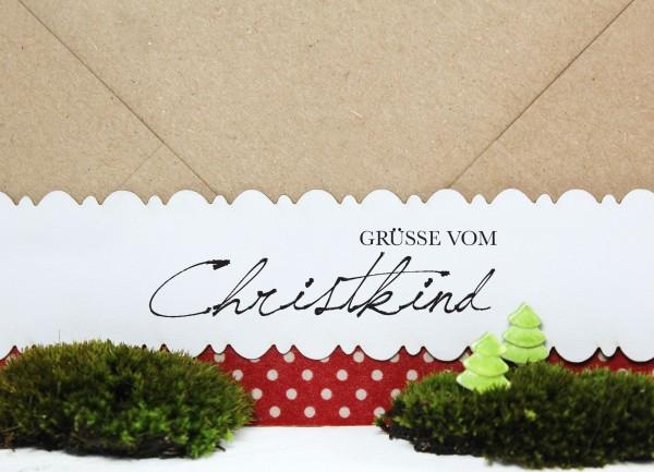 """Weihnachtsstempel """"Grüsse vom Christkind"""""""
