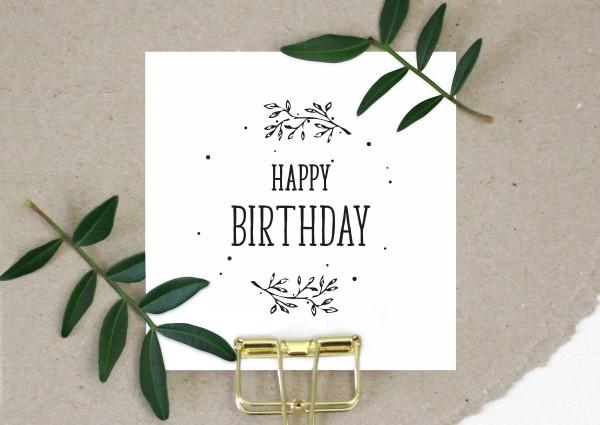 Stempel Textstempel Spruchstempel Happy Birthday