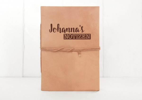 Leder-Notizbuch mit Wunschgravur C6 Notizen