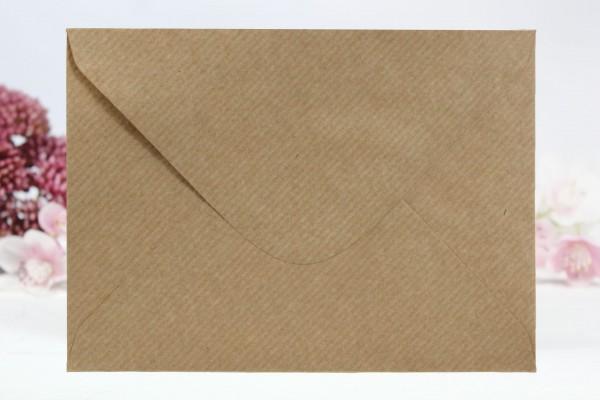 20 Umschläge Naturpapier gerippt Din C5