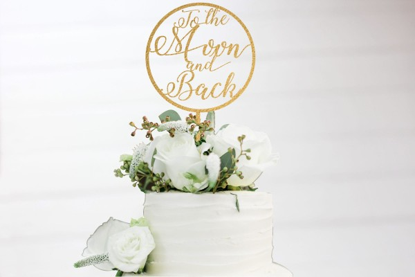To the Moon and Back Tortenstecker Cake Topper