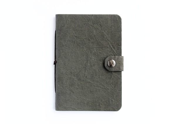 Kunstleder-Notizbuch grau - klein