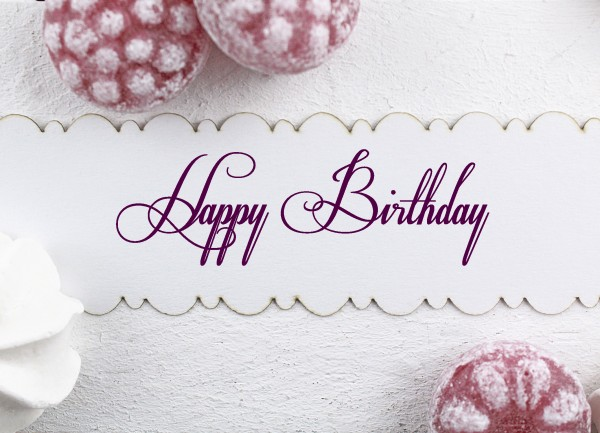 Textstempel - Happy Birthday -