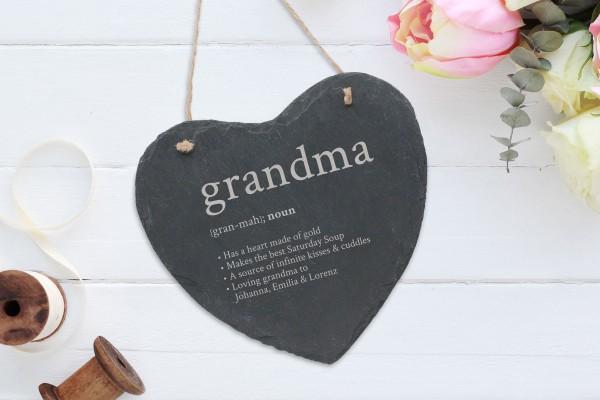 personalisierte Wanddekoration Schiefer Herz Beste Freundin