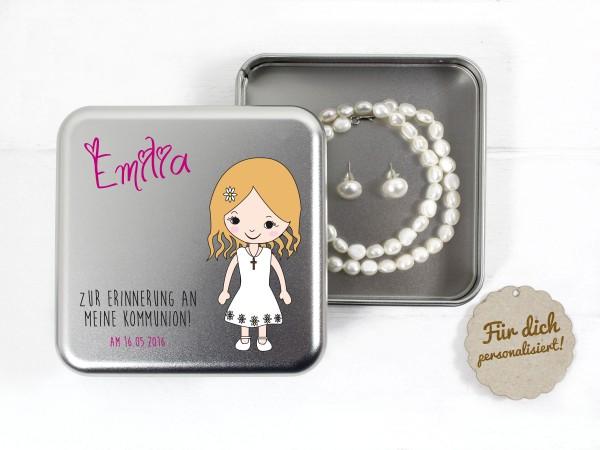Geschenkdose zur Kommunion für Mädchen