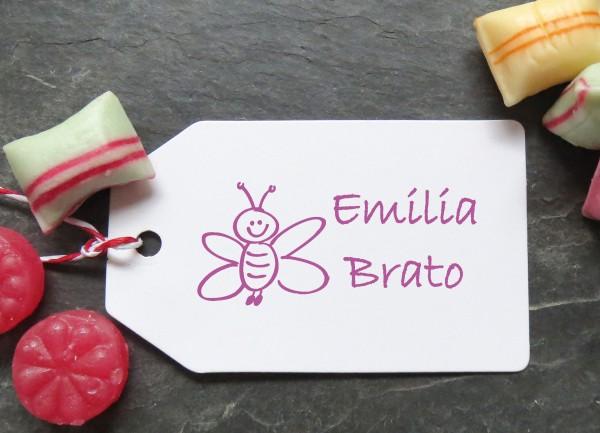Stempel Biene für Kinder