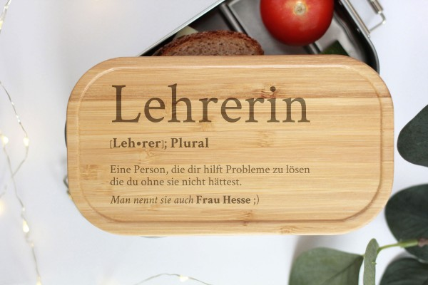 Brotdose für Teacher Definition Geschenk Lunchbox