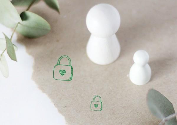 Liebes Schloss geschlossen Wedding Ministempel Motivstempel