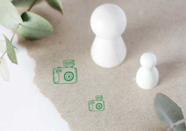 Kamera Fotoapparat Motivstempel Stempel Ministempel Doodlestamp