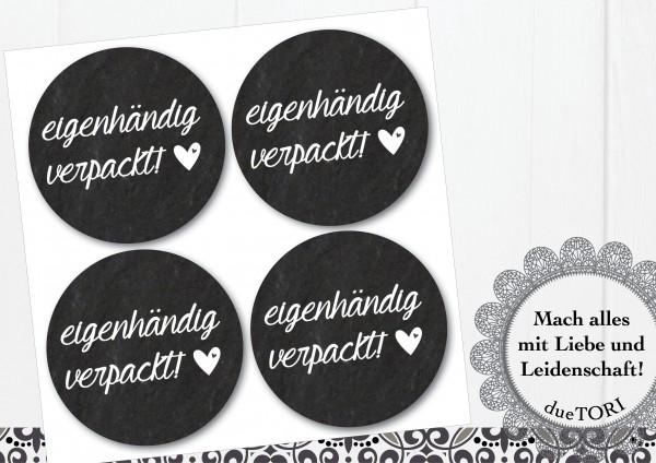 24/15 Sticker - eigenhändig verpackt - Schieferoptik