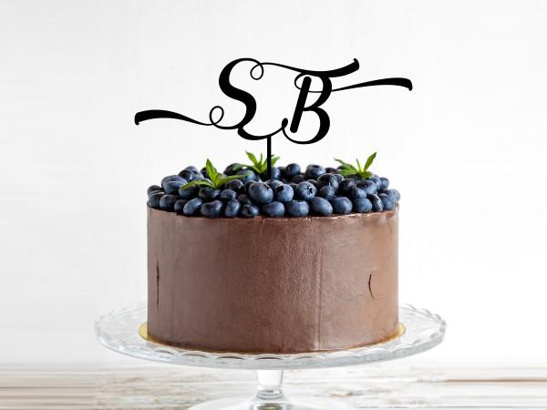 Kuchenstecker mit Initialien nach Wunsch