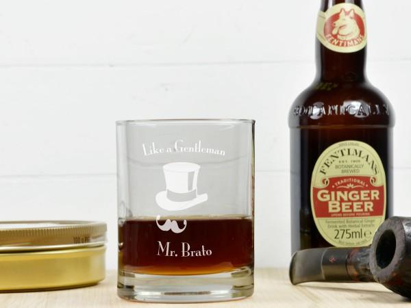 Personalisiertes Whiskeyglas - Like a Gentleman