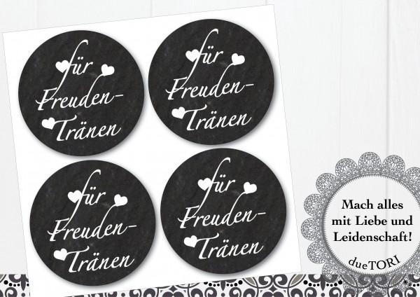 24/15 Sticker - Für Freudentränen - Schieferoptik