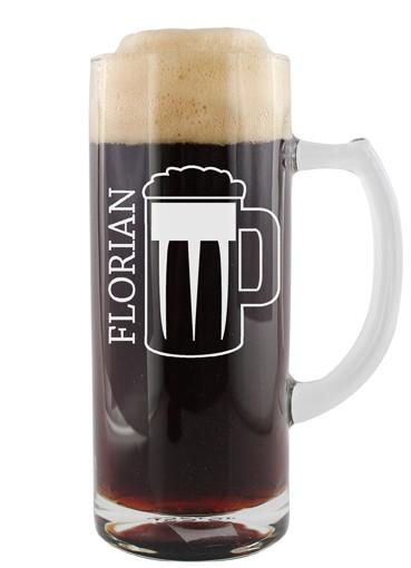 Bierglas - Bierkrug mit Namen personalisiert
