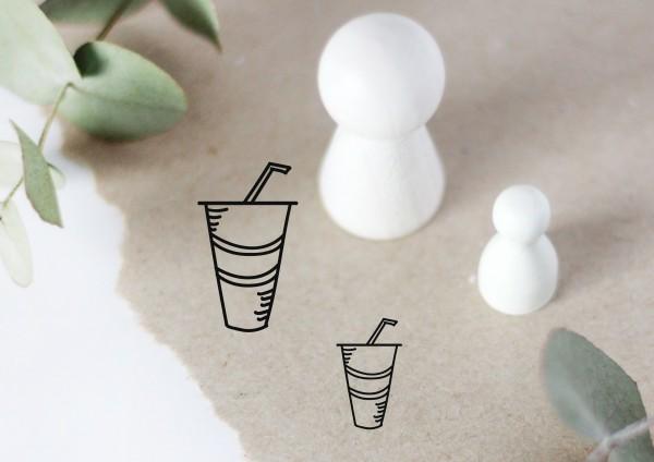 Glas Softdrink Motivstempel